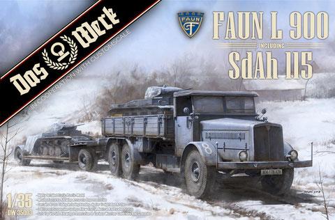 DAS WERK item DW35003 Faun L 900 plus Sd.Ah.115 (10t)