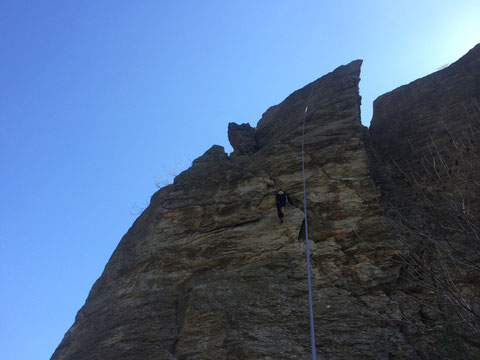 arrampicare a  Courmayeur con uscita pomeridiana su roccia