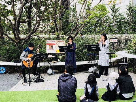 渋谷キャスト ギター 高橋力 野外