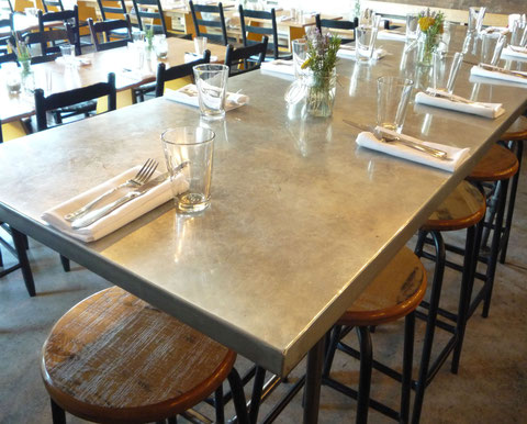 grant irish zinc clad community table top