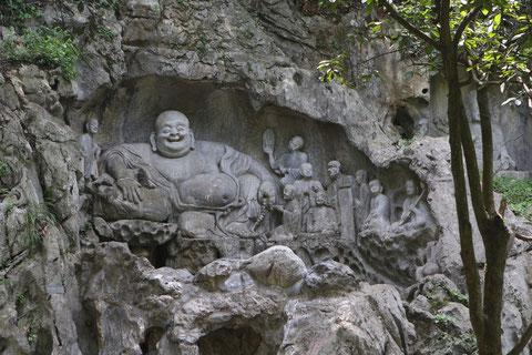 Auf dem Weg zum Lingyin-Tempel