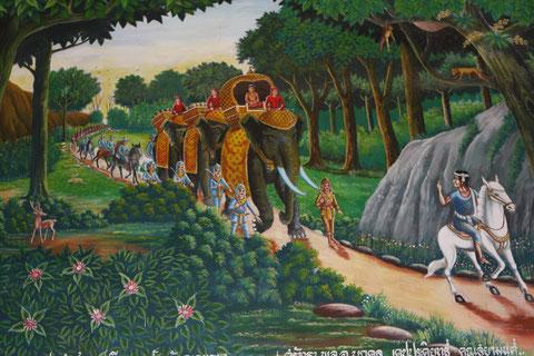 Wandmalerei Wat Kukut, Lamphun