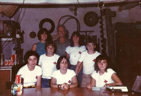 Agosto 1981 - Denise, Marisa, Barbara - Fabio, Alberto - Patrizia, Walter, Fabiola