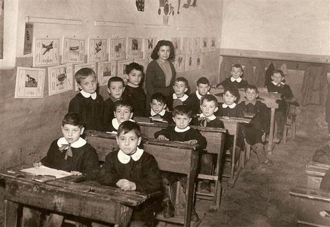 II elementare, anno 1957. Maestra Brunelda.