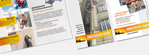 Textgestaltung am Beispiel eines Folders für Drechsler Dach