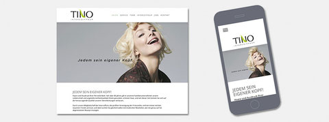 Responsive Website Tino Intercoiffeur