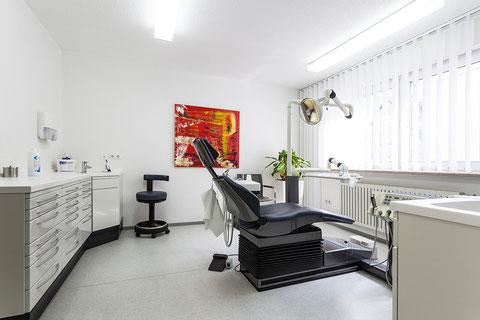Das Foto zeigt ein Behandlungszimmer