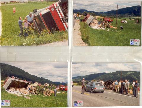 VU Ortseinfahrt Kraubath 1982