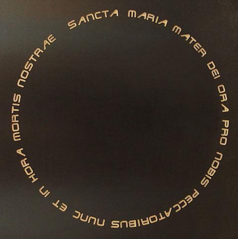 Rosenkranz Schriftzug, Fräsung in beschichtetem Material