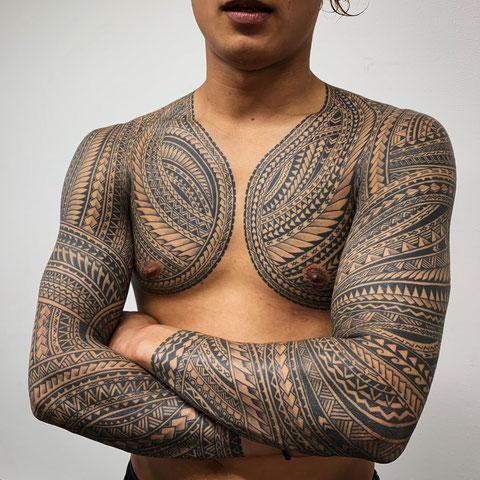 サモアタトゥー 民族トライバル