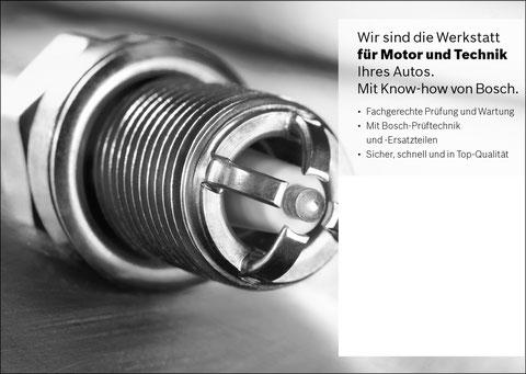 Zündkerze mit info zur werkastatt: Wir sind die Werkstatt für Motor und Technik