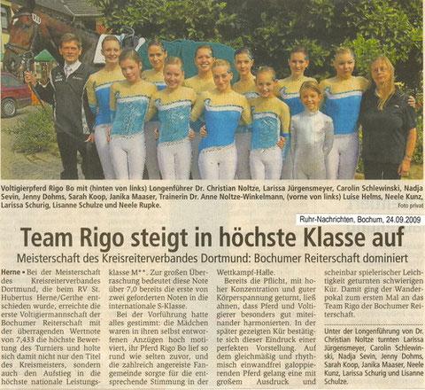 Ruhrnachrichten Bochum, 24.09.2009