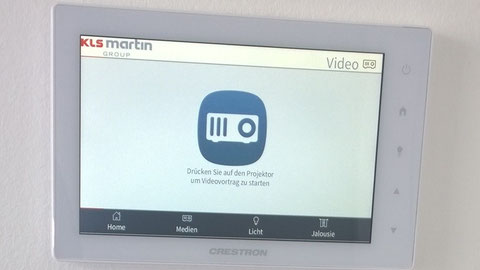 Crestron Mediensteuerung Touch Panel