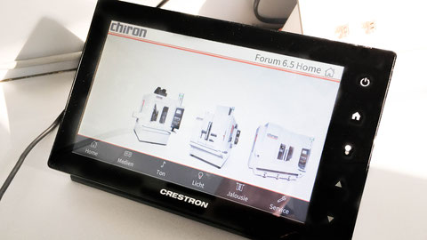 Crestron Mediensteuerung Touch Panel