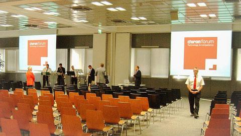 Veranstaltungsraum Leinwand Medientechnik Veranstaltungstechnik