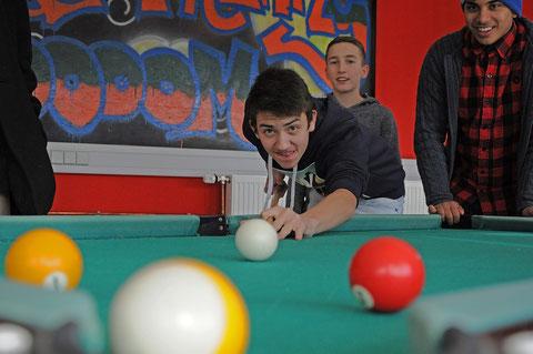 Billiard im Schülercafé