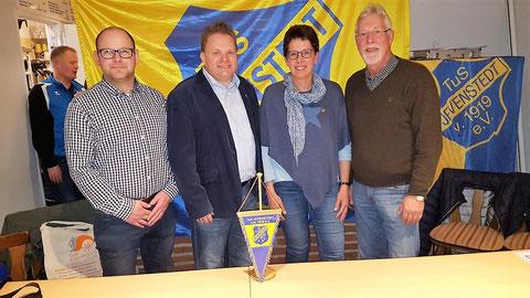 (Vorstands- und Abteilungsleiterwahlen): Torben Pahl, Heiko Wisser, Silke Rohwer, Hermann Petersen