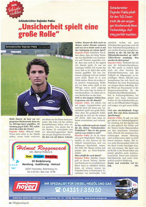 Das vollständige Interview mit Dajinder Pabla in der Regional Sport