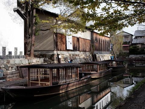 ビエンナーレの舞台となる近江八幡の水路の風景
