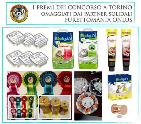 I premi per il Concorso di Bellezza per furetti di Torino - 22 Ottobre 2017