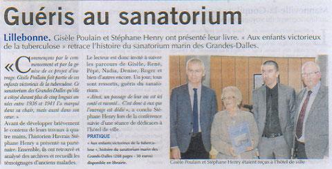 Article Paris-Normandie (mardi 29 décembre 2015)