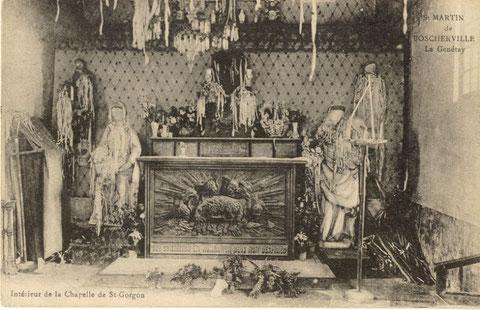 L'intérieur de la chapelle vers 1900