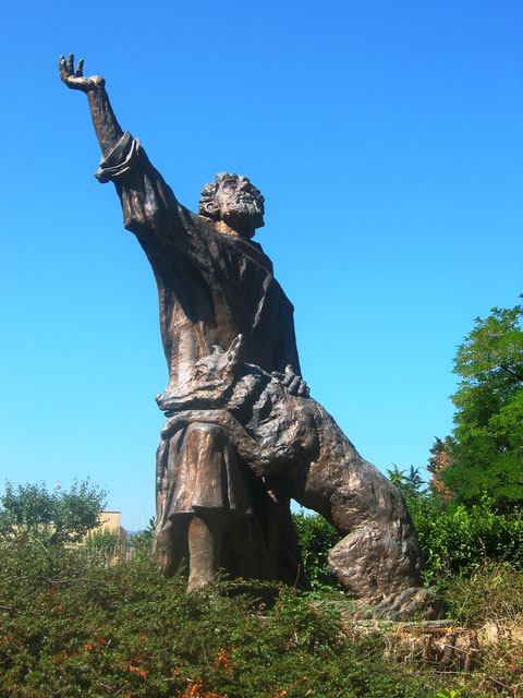 St. Francis and the wolf Gubbio