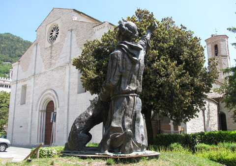 Gubbio chiesa della vittorina san francesco e il lupo