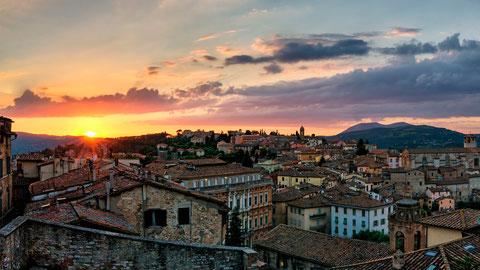 Perugia il tramonto