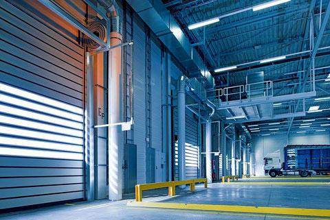 Klimatisierte Industriehalle