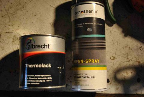 Lack in Dose oder als Spray