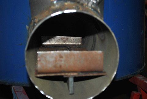Basisrost in Brenner eingesetzt