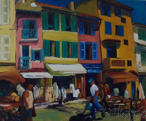 le Port à Cassis, 55/46cm oil on canvas