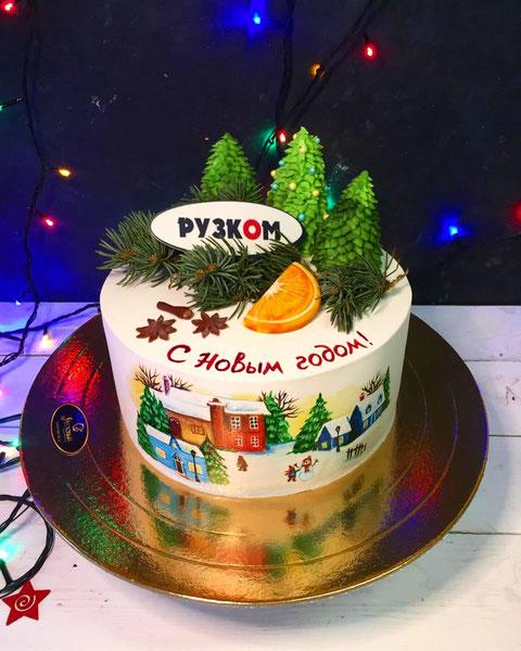 новогодние торт