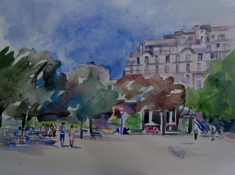 Aquarel  Parijs  3