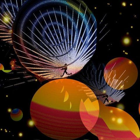 Zelfs in de ruimte botst men op grenzen - Computergrafiek