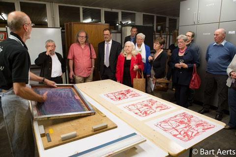 Werksessie tijdens Pelicaen tentoonstelling in 2014