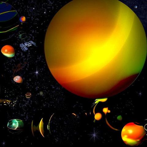 Afval in de ruimte - Computergrafiek
