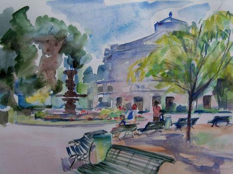 Aquarel  Parijs  1
