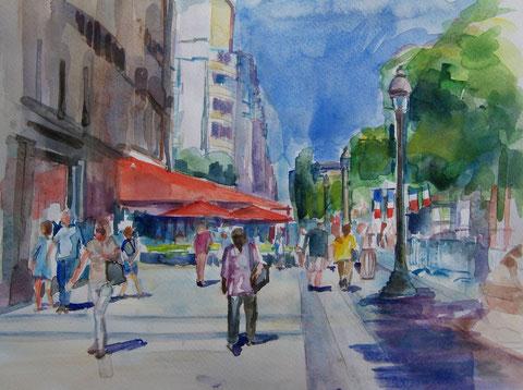 Aquarel  Parijs  2