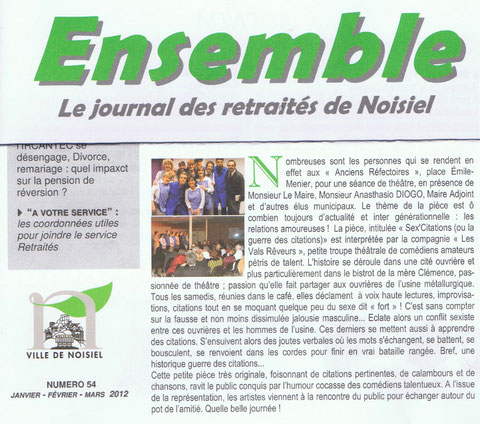 ENSEMBLE (journal des retraités de NOISIEL) N°54
