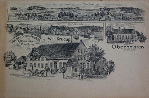 Erste und einzige Postkarte von Oberholsten