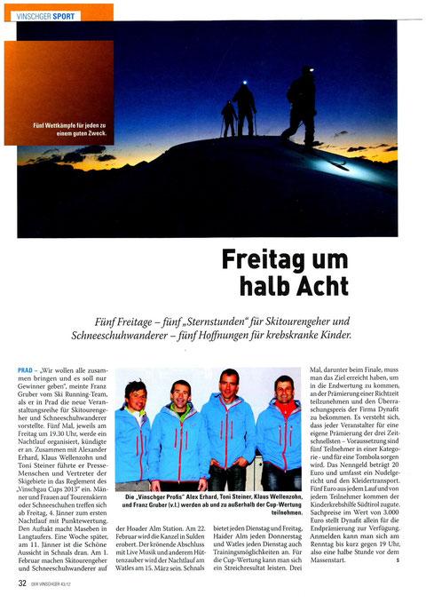 Artikel Vinschger vom 28.11.2012