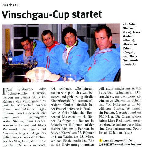 Artikel Vinschgerwind vom 29.11.2012