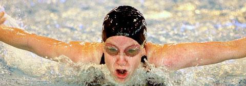 Schwimmerin, siegesgewiss, glücklich und erfolgreich, Albicker Coaching, coach-4you