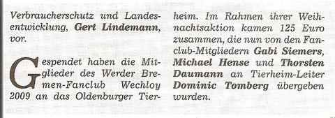 Hunte-Report 13.01.13