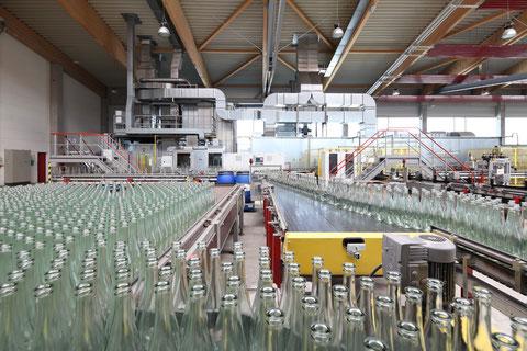 Glas-Recycling Fa. Wiegand-Glas in Steinbach am Wald