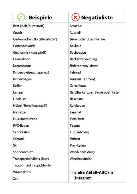 Brennbarer Sperrmüll - Stand 04-2013 - S. 2/4