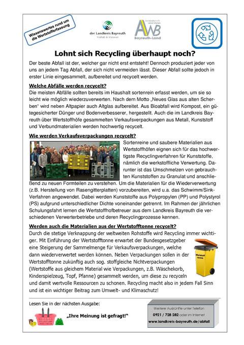 05-2015 Lohnt sich Recycling überhaupt noch?
