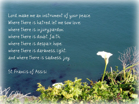 Where in your life can you be an instrument of peace today?